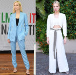 Sylvia Hoeks In Gabriela Hearst, Racil, Ronald van der Kemp Haute Couture & Isabel Marant - Filming Italy Sardegna Festival 2018