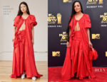 Tessa Thompson In Rosie Assoulin - 2018 MTV Movie And TV Awards