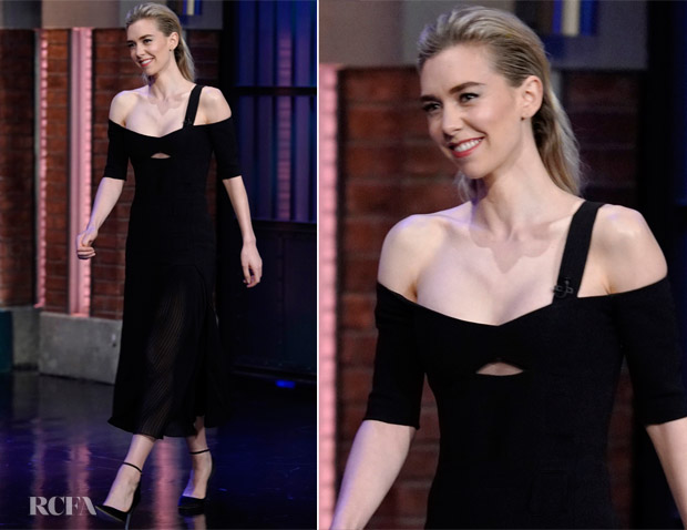 Vanessa Kirby In Gabriela Hearst - Late Night with Seth Meyers