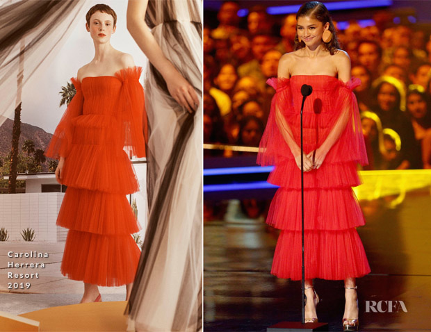 Zendaya Coleman In Carolina Herrera - 2018 MTV Movie And TV Awards
