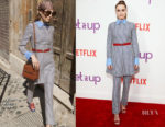 Zoey Deutch In Valentino - Netflix's 'Set It Up' New York Screening