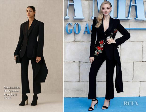 Amanda Seyfried In Alexander McQueen - 'Mamma Mia! Here We Go Again' World Premiere