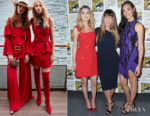 Amber Heard In Elie Saab & Gal Gadot In David Koma - Comic-Con 2018