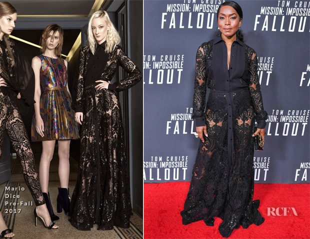 749b103890c5 Angela Bassett joined Michelle Monaghan on the red carpet for the 'Mission:  Impossible – Fallout' premiere held at Smithsonian's National Air and Space  ...