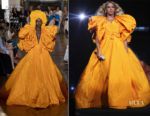 Beyonce Knowles In Valentino Haute Couture & Roberto Cavalli Couture - 'On The Run II' Tour Paris