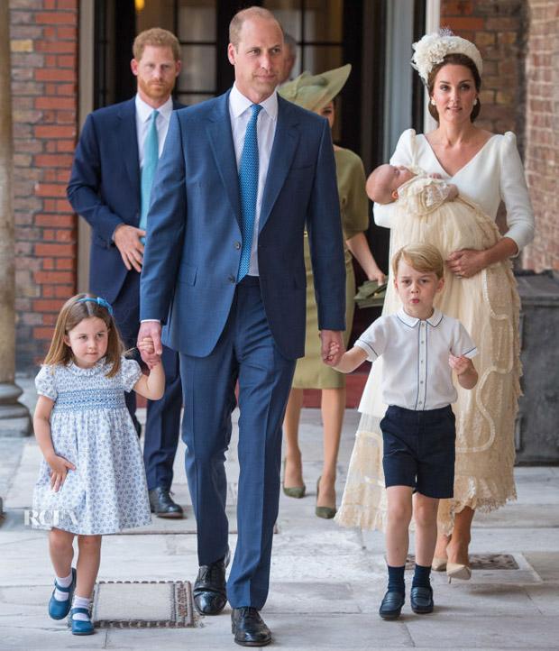 Catherine Duchess Of Cambridge In Alexander Mcqueen Hrh Prince Louis Of Cambridge Christening