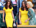 Catherine, Duchess of Cambridge In Dolce & Gabbana - Wimbledon Championships Men's Final