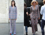 Christine Baranski In Gabriela Hearst - Magic Radio Visit