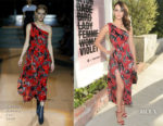 Emmy Rossum In Carolina Herrera - Beats By Dre For Violet Grey Party