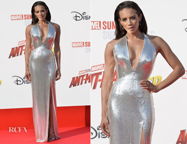 Hannah John-Kamen In Versace - 'Ant-Man And The Wasp' Paris Premiere