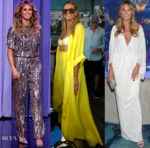 Heidi Klum In Alberta Ferretti, Juan Carlos Obando & Sally LaPointe - The Tonight Show Starring Jimmy Fallon & Ocean Resort Casino Opening Weekend