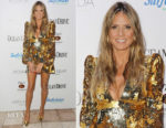 Heidi Klum In Greta Constantine - Ocean Drive's Magazine's 25th Anniversary Swimsuit Issue Celebration