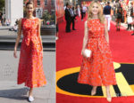 Holly Hunter In Lela Rose - 'Incredibles 2' London Premiere