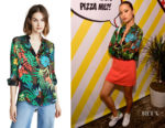Jamie Chung's Alice + Olivia Colourful Amos Top
