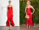 January Jones In Shoshanna - 2nd Annual Maison St-Germain
