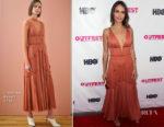 Jordana Brewster In J. Mendel - 2018 Outfest Los Angeles Opening Night Gala