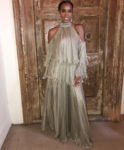 Kelly Rowland In Maria Lucia Hohan - Tank and Zena Foster's Wedding