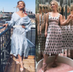Lily James In 3.1 Phillip Lim & Emilia Wickstead - 'Mamma Mia! Here We Go Again' Stockholm Promo Tour