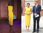 Meghan, Duchess of Sussex In Brandon Maxwell - 'Your Commonwealth' Youth Challenge Reception