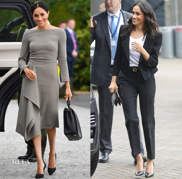 photo Meghan Markle Wore a Roland Mouret Dress to Arrive at Cliveden House