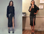 Mila Kunis In Alice + Olivia - The Late Late Show with James Cordon