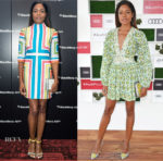 Naomie Harris In Emilia Wickstead & Zimmermann - BlackBerry KEY2 Launch & Audi Polo Challenge 2018