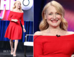 Patricia Clarkson In Jonathan Simkhai  - Summer 2018 TCA Press Tour: 'Sharp Objects'
