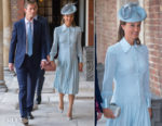 Pippa Middleton In Alessandra Rich - HRH Prince Louis Of Cambridge Christening
