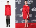 Rebecca Ferguson In Valentino – 'Mission: Impossible – Fallout' Washington DC. Premiere