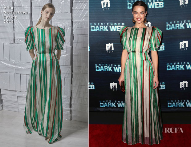 Rebecca Rittenhouse In Vika Gazinskaya - 'Unfriended: Dark Web' LA Premiere