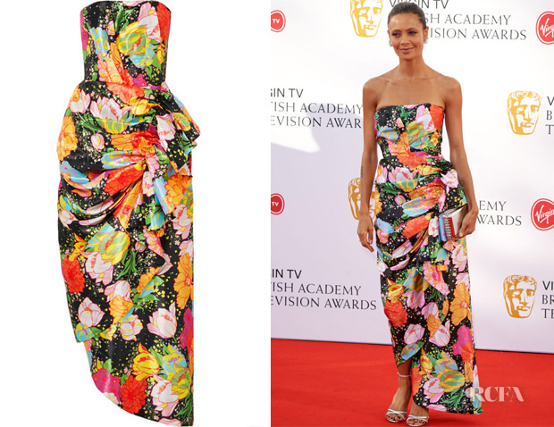 Thandie Newton's Richard Quinn Ruched Dress