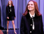 Zoey Deutch In Miu Miu - The Tonight Show Starring Jimmy Fallon