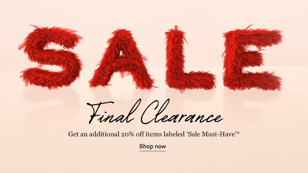 NET-A-PORTER Final Clearance Now On! Get An Extra 20% Off Sale Items
