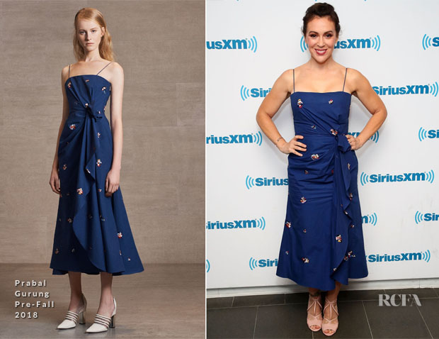 Alyssa Milano In Prabal Gurung - 'Insatiable' Promo Tour