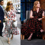 Amy Adams In Gabriela Hearst & Michael Kors Collection - The View & Late Night with Seth Meyers