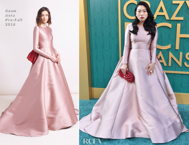 Awkwafina In Reem Acra - 'Crazy Rich Asians' LA Premiere