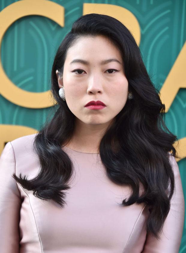 Awkwafina In Reem Acra - 'Crazy Rich Asians' LA Premiere