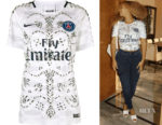 Beyonce Knowles Koche Embellished Football T-Shirt