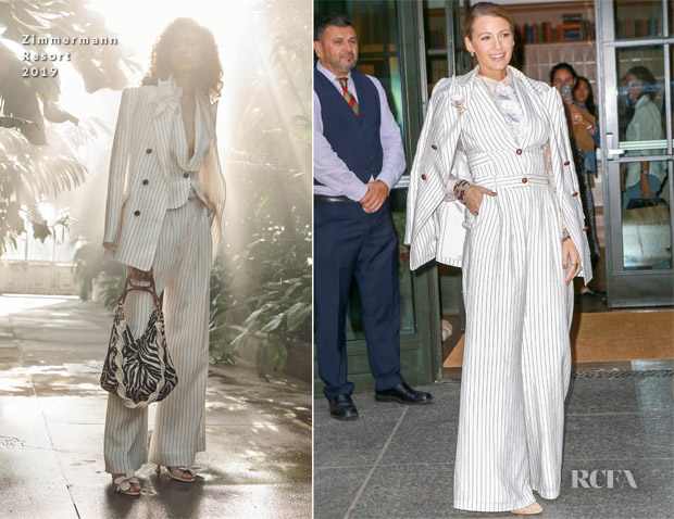 Blake Lively's Fashion Weekender In Zimmermann - 'A Simple Favor' New York Promo Tour