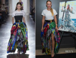 Caroline Wozniacki In Versace - Hamptons Magazine Cover Party