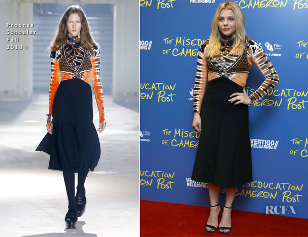 Chloe Grace Moretz In Proenza Schouler - 'The Miseducation Of Cameron Post' London Screening