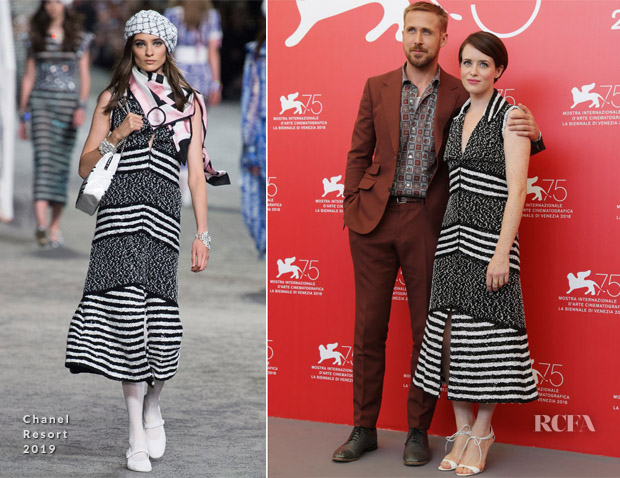 Claire Foy In Chanel - 'First Man' Venice Film Festival Photocall