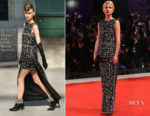 Clemence Poesy In Chanel Haute Couture - 'The Favourite' Venice Film Festival Premiere