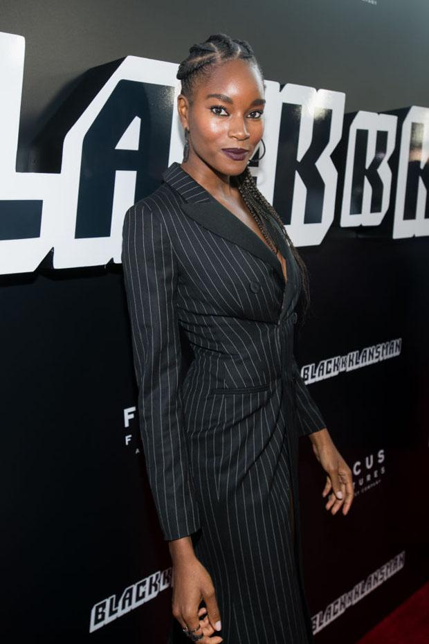 Damaris Lewis In Moschino - 'BlacKkKlansman' LA Premiere