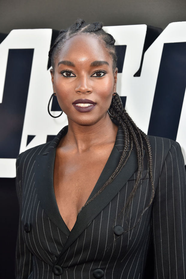 Damaris Lewis In Moschino - 'BlacKkKlansman' LA Premiere