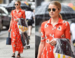 Dianna Agron In Ganni - Out In New York City