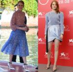 Emma Stone In Fendi & Louis Vuitton - 'The Favourite' Venice Film Festival Photocall