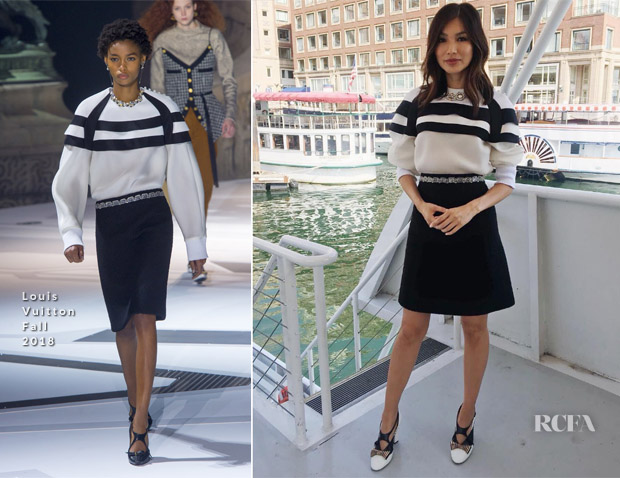 Gemma Chan In Louis Vuitton 'Crazy Rich Asians' Promo Tour