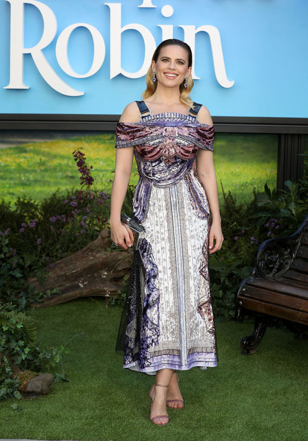 Hayley Atwell In Mary Katrantzou - 'Christopher Robin' London Premiere