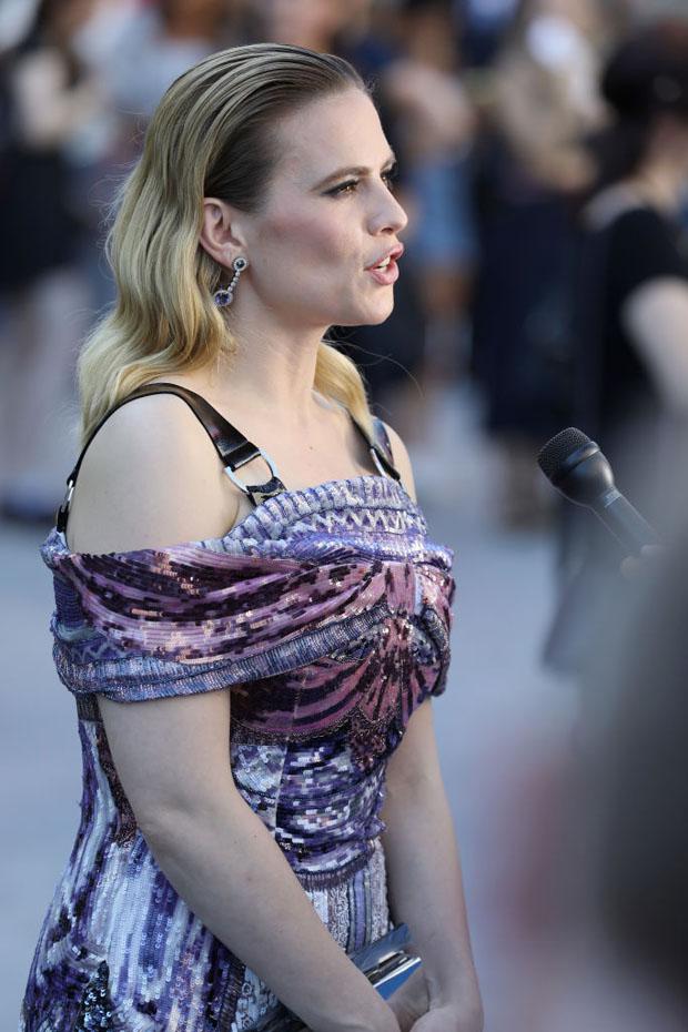 Hayley Atwell In Mary Katrantzou - 'Christopher Robin' London Premiere